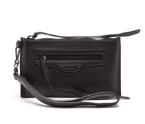 Neo Classic Grained-leather Pouch