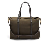 Mega Tote Two-in-one Canvas & Leather Holdall
