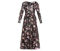 V-neck Floral-sequinned Maxi Dress