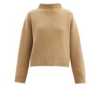 No.163 Ken High-neck Stretch-cashmere Sweater