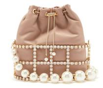 Holli Crystal, Faux-pearl And Metal Bag