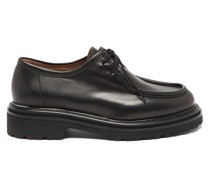 Lace-up Leather Derby Shoes