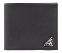 Triangle Logo-plaque Bi-fold Leather Wallet