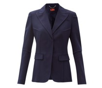 Beatrix Single-breasted Tropical-wool Blend Jacket