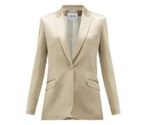 Gala Single-breasted Hammered-satin Jacket