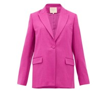Antalya Single-breasted Wool-blend Blazer