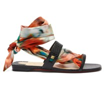 Foulard Cheville Scarf & Leather Sandals