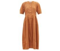 Cecile Recycled-fibre Poplin Midi Dress