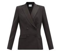Haviland Double-breasted Satin-lapel Wool Jacket