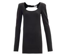 Padded-shoulder Jersey Mini Dress