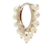 Pearl & 18kt White-gold Earring