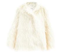 Oversized Mohair Hooded Coat