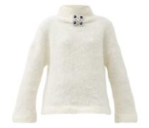 Crystal-embellished Wool-blend Sweater