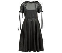Bow-embellished Pvc Dress