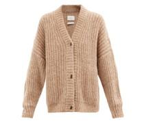 Ribbed-knit Cardigan