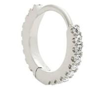 Eternity Diamond & 18kt White Gold Earring