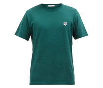 Fox-appliqué Cotton-jersey T-shirt