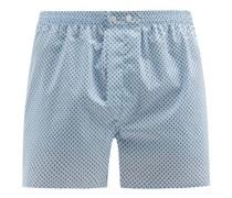 Ledbury Geometric-print Cotton-poplin Boxer Shorts