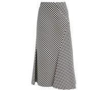 Ivetta Checked Bias-cut Cotton-blend Skirt