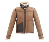 Shearling And Suede Aviator Jacket