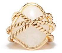 Mycene Rock Crystal 18kt Gold-plated Ring