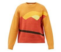 Landscape-jacquard Wool-blend Sweater