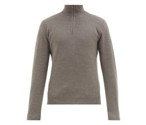 Half-zip Wool And Cashmere-blend Sweater