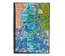 Irises Embroidered Book Clutch Bag