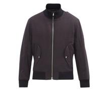 Crossover-strap Brushed-cotton Bomber Jacket