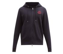 Logo-patch Cotton-jersey Hooded Sweatshirt