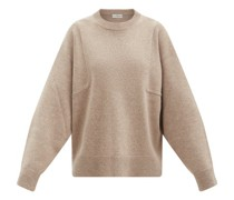 Sleeve-seam Wool-blend Sweater