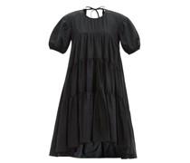 Edition Esme Tie-back Tiered Recycled-faille Dress