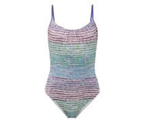 Scoop-neck Lamé Swimsuit