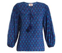 Isadora Ikat-print Cotton-blend Blouse
