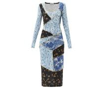 Jun Patchwork Floral-print Crepe Dress