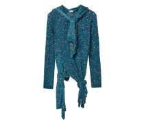Knotted-hem Sequinned Sweater