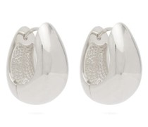 Hinged Sterling-silver Hoop Earrings