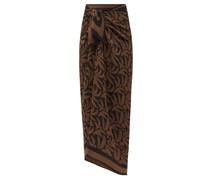 Palm-print Silk-georgette Sarong