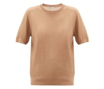 Cashmere-blend Short-sleeved Sweater