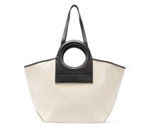 Cala Medium Leather-trimmed Canvas Tote Bag
