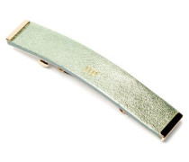 Metallic-leather Hair Clip