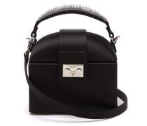 Trunk Crystal-embellished Satin Cross-body Bag