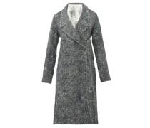 Scribble Side-pleat Cotton-twill Coat Dress