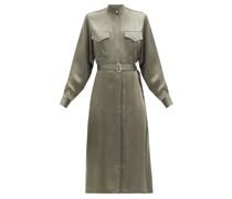 Bonnie Belted Satin Dress