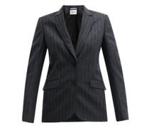 Fidji Single-breasted Chalk-striped Wool Jacket