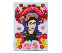 Frida Embroidered Book Clutch