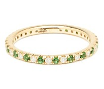 Eternity Diamond, Tsavorite & 14kt Gold Ring