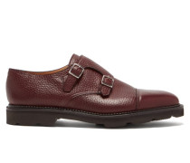 William Monk-strap Leather Shoes