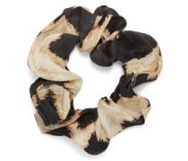 Leopard-print Linen-blend Scrunchie