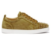 Louis Junior Spike-embellished Suede Trainers